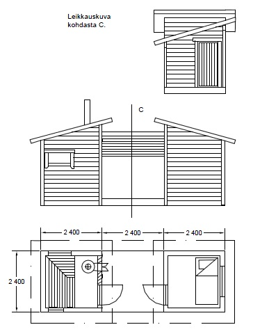 2-osainen piharakennus